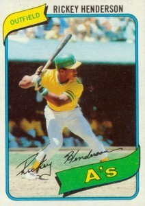 1980 Topps #482 Rickey Henderson Rookie Card