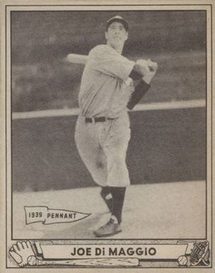 1940 Play Ball #1 Joe DiMaggio Baseball Card