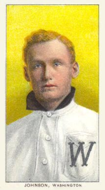 1909-11 T206 White Border Walter Johnson Rookie Card (Portrait)