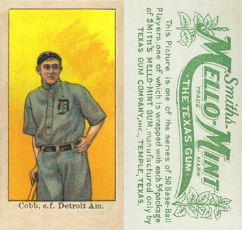 1910 Mello Mint Ty Cobb Baseball Card
