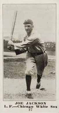 1916 M101-4 Sporting News Joe Jackson Baseball Card