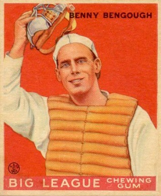 1933 Goudey #1 Benny Bengough Baseball Card