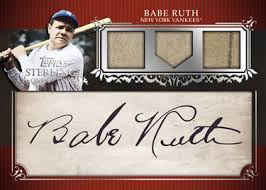 2009 Topps Sterling Babe Ruth Signed Baseball Card