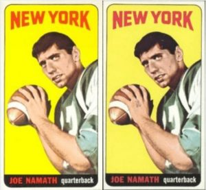 1965 Topps #122 Joe Namath Rookie Card