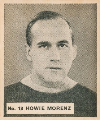1937 V356 World Wide Gum #18 Howie Morenz Hockey Card