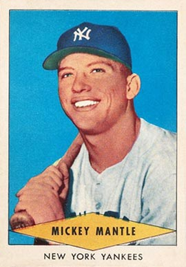 1954 Red Heart Dog Food #18 Mickey Mantle Baseball Card
