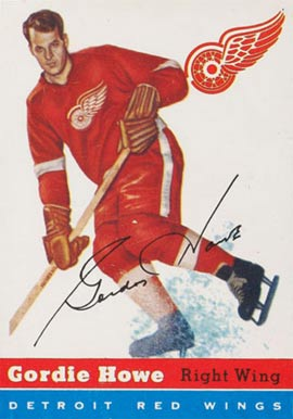 1954 Topps #8 Gordie Howe Hockey Card