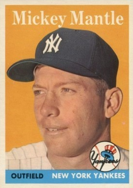 1958 Topps #150 Mickey Mantle Baseball Card