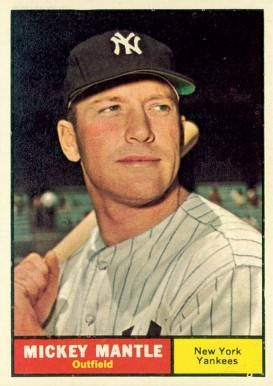 1961 Topps #300 Mickey Mantle Baseball Card