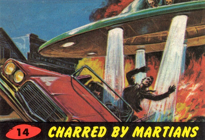 1962 Topps Mars Attacks Card #14 Charred By Martians