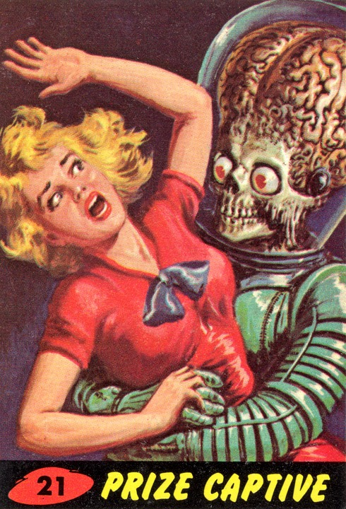 1962 Topps Mars Attacks Card #21 Prize Captive