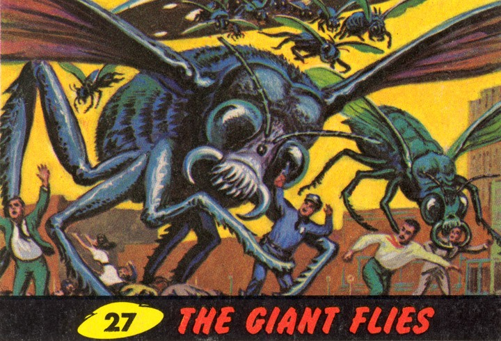 1962 Topps Mars Attacks Card #27 The Giant Flies