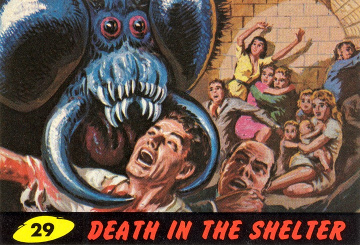 1962 Topps Mars Attacks Card #29 Death In The Shelter