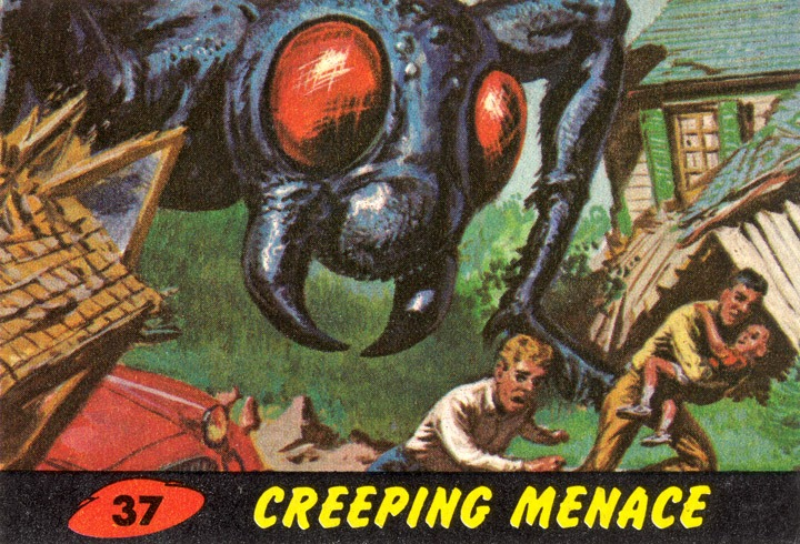 1962 Topps Mars Attacks Card #37 Creeping Menace