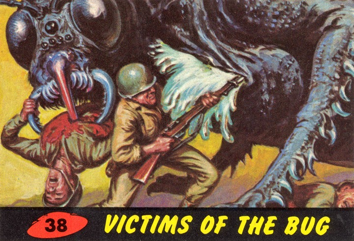 1962 Topps Mars Attacks Card #38 Victims Of The Bug