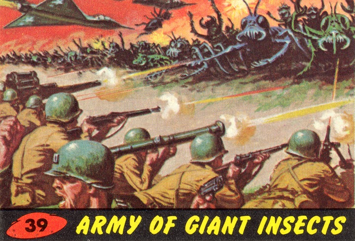 1962 Topps Mars Attacks Card #39 Army Of Giant Insects