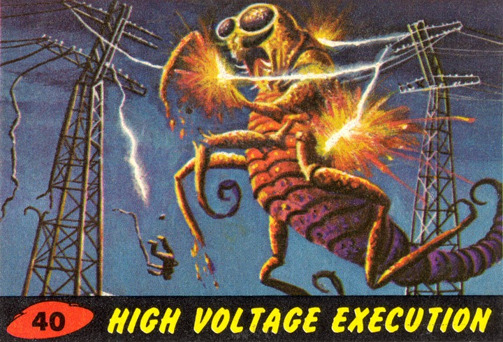 1962 Topps Mars Attacks Card #40 High Voltage Execution