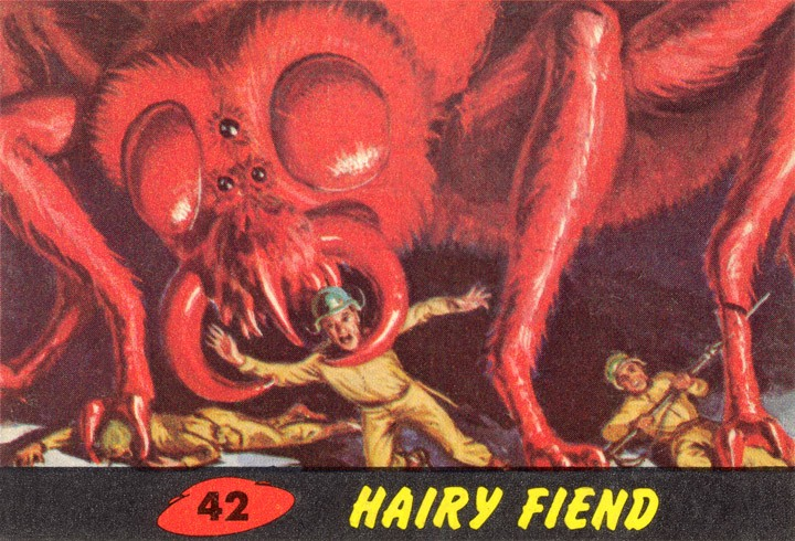 1962 Topps Mars Attacks Card #42 Hairy Fiend