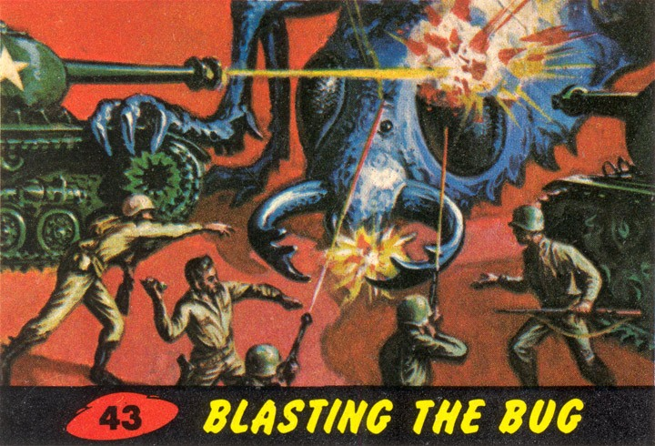 1962 Topps Mars Attacks Card #43 Blasting The Bug