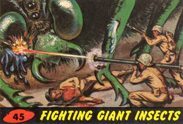 1962 Topps Mars Attacks Card #45 Fighting Giant Insects