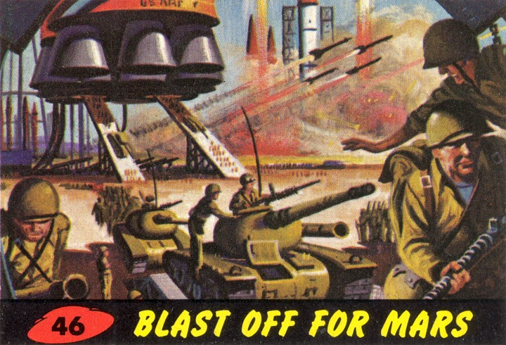 1962 Topps Mars Attacks Card #46 Blast Off For Mars