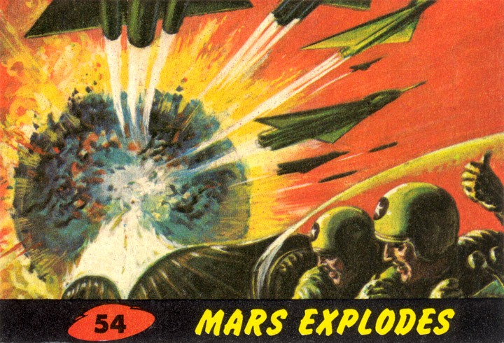 1962 Topps Mars Attacks Card #54 Mars Explodes