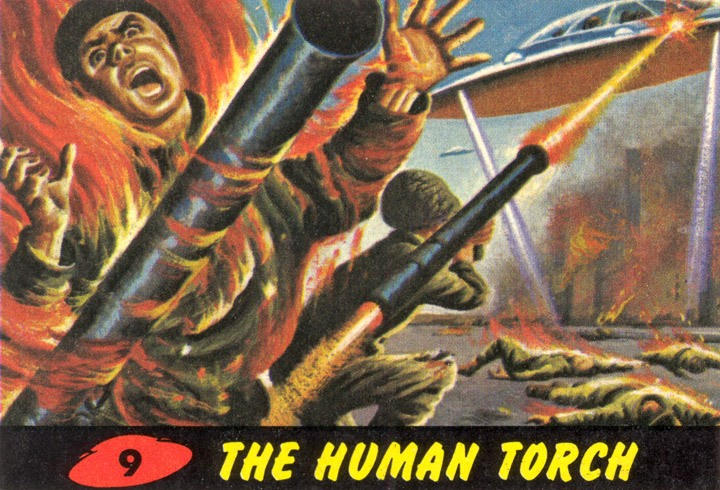 1962 Topps Mars Attacks Card #9 The Human Torch
