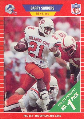 1989 Pro Set #494 Barry Sanders Football Card