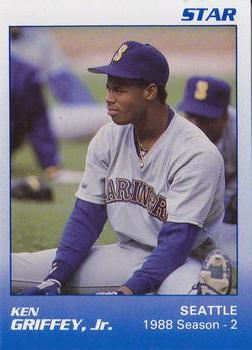 1989 Star Ken Griffey Jr. Blue:White Yellow Back #5 Ken Griffey Jr. Baseball Card