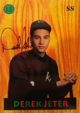 1992 Little Sun High School Prospects Derek Jeter Baseball Card Autographed