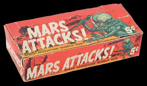Opened Original Box of 1962 Topps Mars Attacks Cards
