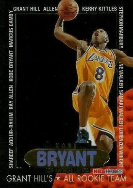 1996 Hoops Grant Hill's All Rookie Team #3 Kobe Bryant Basketball Card