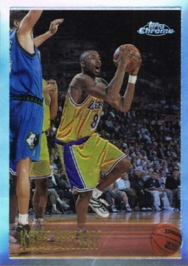 1996 Topps Chrome Refractor #138 Kobe Bryant Rookie Card