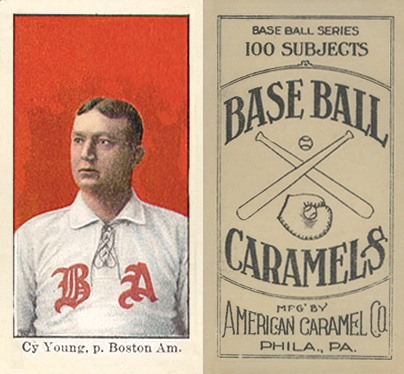 1909 E90-1 American Caramel (Boston) Cy Young Baseball Card