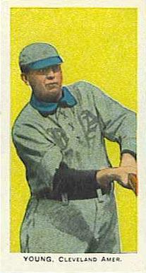 1910 E93 Standard Caramel Cy Young Baseball Card