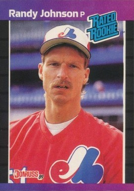 1989 Donruss #42 Randy Johnson Rated Rookie Baseball Card
