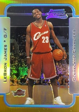 2003 Bowman R&S Chrome Gold Refractor #123 Lebron James Basketball Card