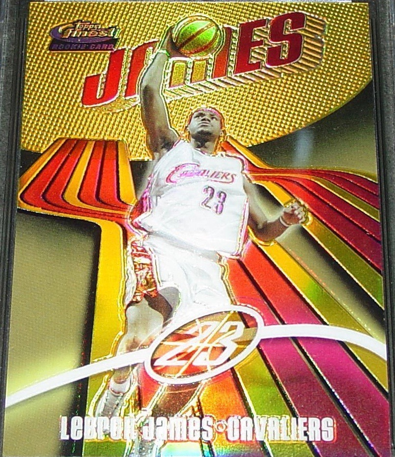 2003 Finest #133 Gold Refractor Lebron James Basketball Card