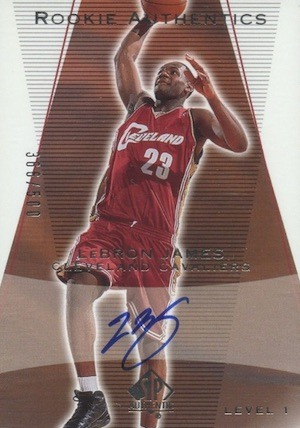 2003 SP Authentic Autograph #148 LeBron James Basketball Card