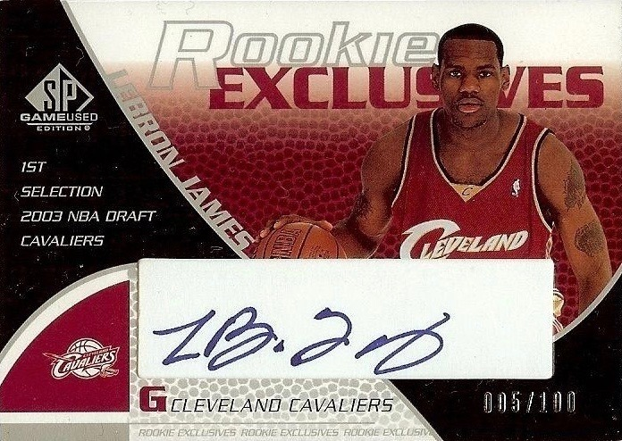 2003 SP Game Used Rookie Exclusive Autograph Lebron James Card