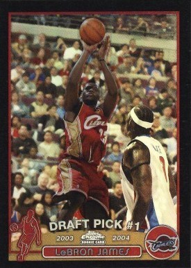 2003 Topps Chrome #111 Black Refractor Lebron James Basketball Card
