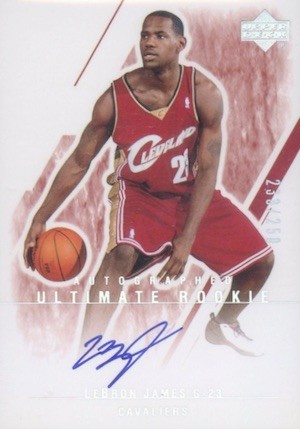 2003 Ultimate Collection Autograph #127 Lebron James Basketball Card