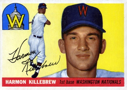 1955 Topps #124 Harmon Killebrew Rookie Card
