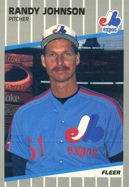 1989 Fleer #381 Randy Johnson Rookie Card With Marlboro Ad