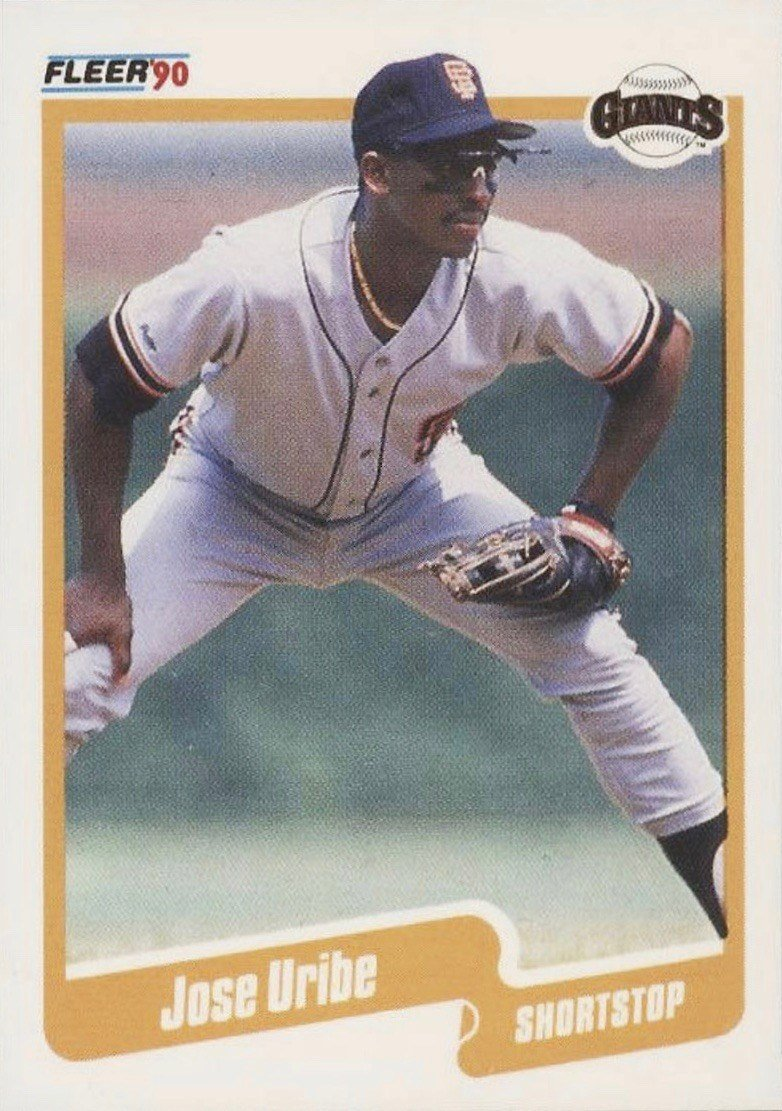 1990 Fleer #74 Juan Uribe Baseball Card
