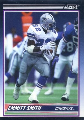 1990 Score Supplemental #101T Emmitt Smith Football Card