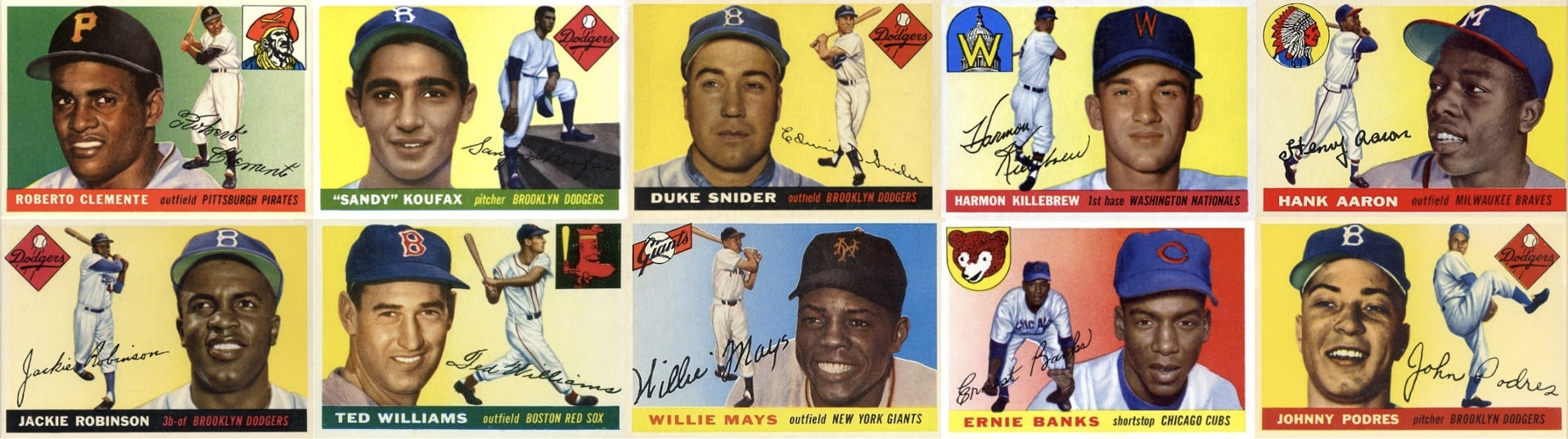 Ten Most Valuable 1955 Topps Baseball Cards