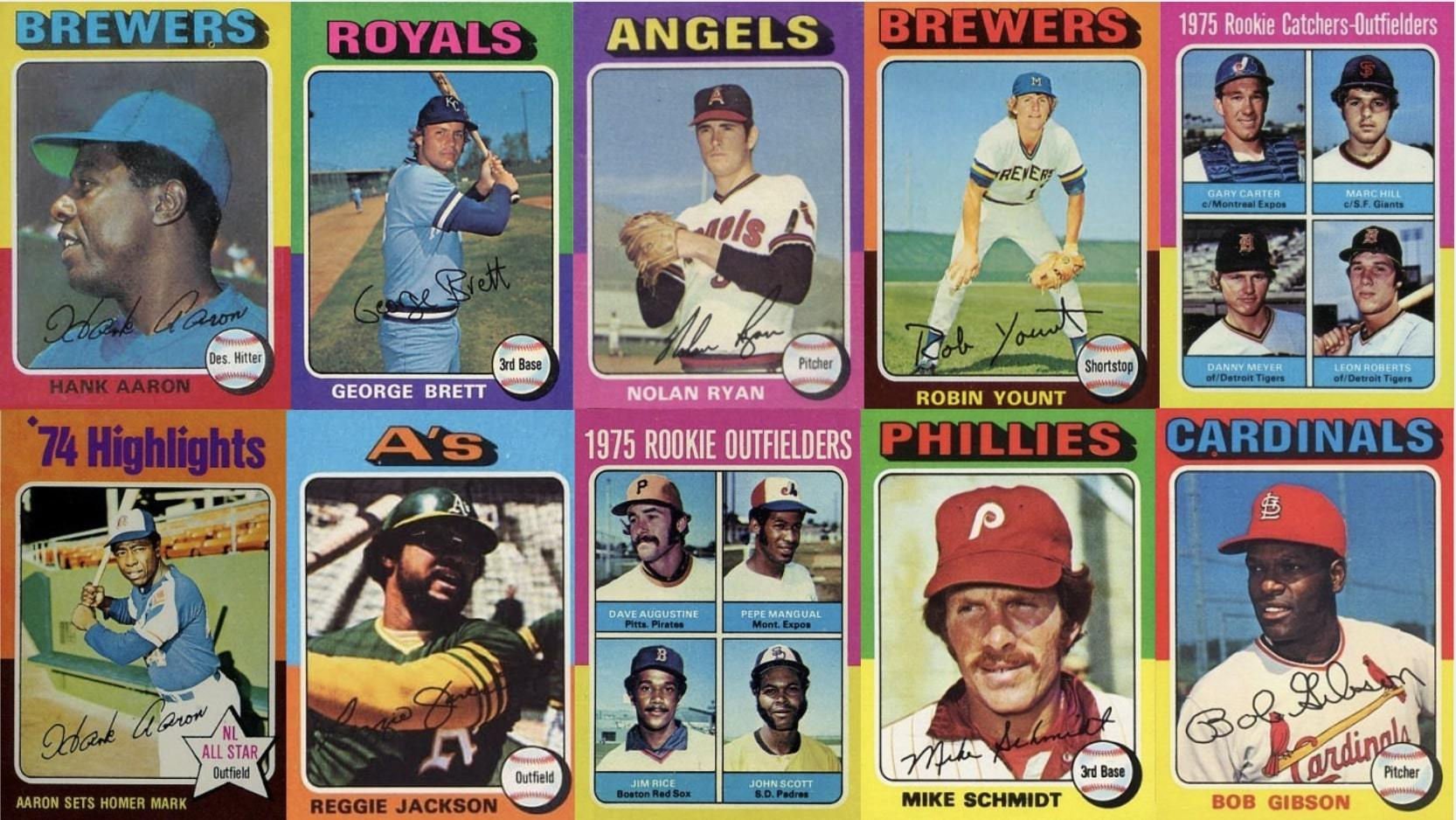 10 Most Valuable 1975 Topps Baseball Cards