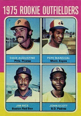 1975 Topps #616 Rookie Outfielders Jim Rice Rookie Card