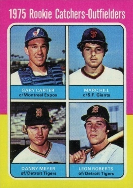 1975 Topps #620 Rookie Catchers-Outfielders Gary Carter Rookie Card